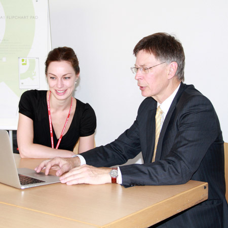 A Consultant supervising a student.
